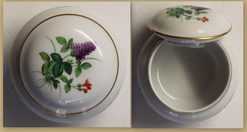Dose Meißen mit Blumenmuster um 1934 3. Wahl Porzellan Keramik Deko Sachsen sf