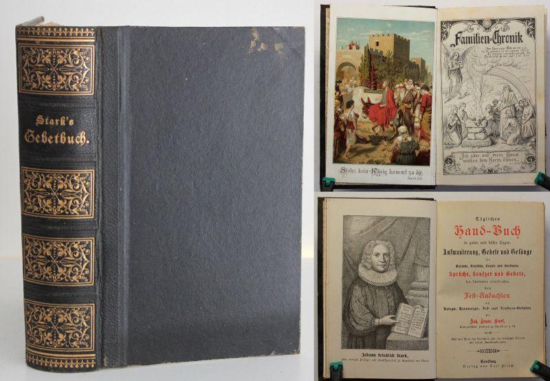 Stark Tägliches Handbuch/ Gebetsbuch um 1875 Religion Gesänge Gesellschaft sf