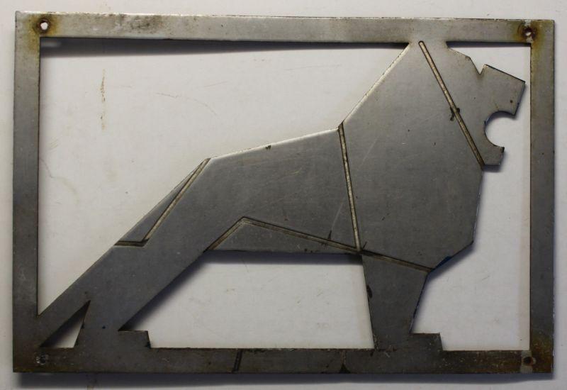 Fabrikschild/Typenschild Löwe von MAN Aluminium um 1970 Reklame Werbung sf