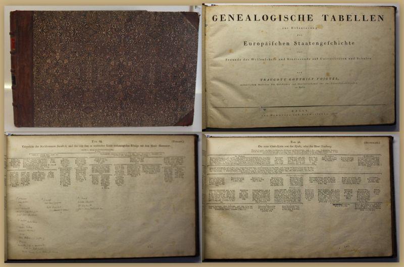 Voigtel Genealogische Tabellen 1811 & 1829 Geschichte Wissenschaft Forschung sf