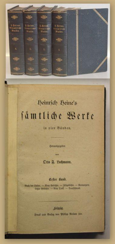 Lachmann Heinrich Heine's Sämtliche Werke 4 Bde um 1900 Belletristik sf