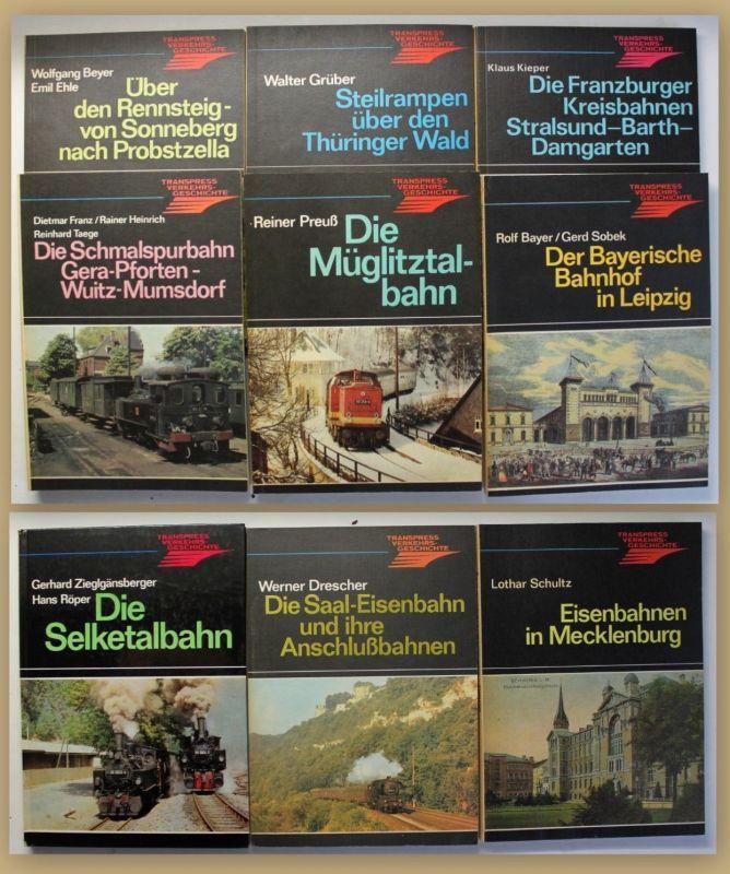 Konvolut Eisenbahn 9 Bde um 1980 Technik Geschichte Eisenbahn Geografie sf