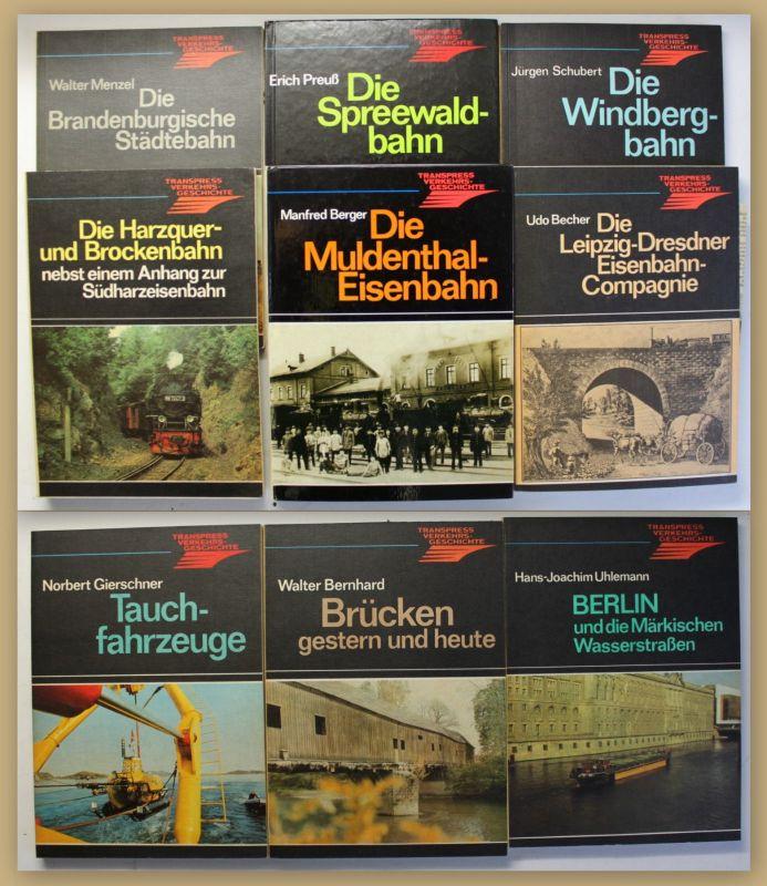 Konvolut Transpress-Verkehrsgeschichte 9 Bde um 1980 Technik Eisenbahn sf