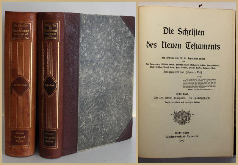 Weiß Die Schriften des Neuen Testaments 2 Bde 1907 Religion Gesellschaft sf