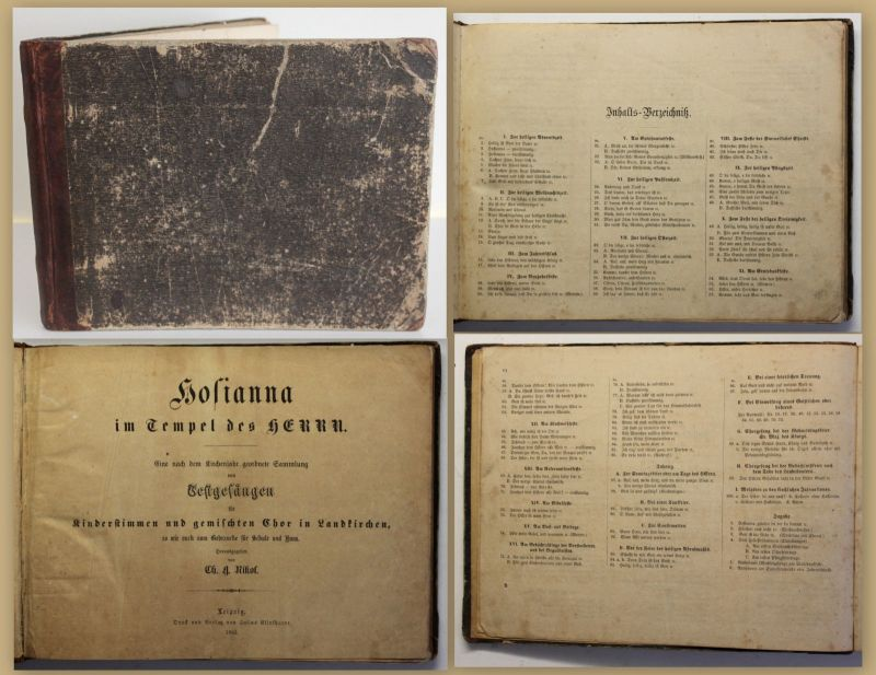 Nikol Hosianna im Tempel des Herrn 1863 Religion Kirche Gesangbuch Musik sf
