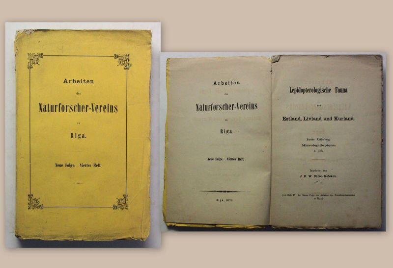 Nolcken Lepidopterologische Fauna von Estland Livland & Kurland 1871 Botanik xz