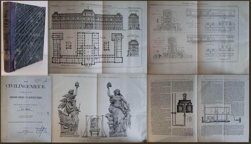 Hartig Der Civilingenieur 1892 Fachliteratur Ingenieure Architektur Sachsen xz