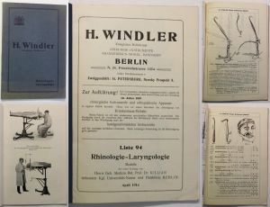 Windler Liste 94: Rhinologie-Laryngologie Modelle Chirurgie-Instrumente 1914 sf