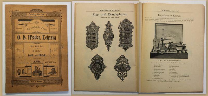 Meder Illustrierter Katalog - Catalog No. 20 Electrotechnische Fabrik um 1910 sf