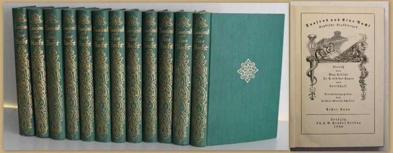 Habicht Tausend und Eine Nacht 1926 12 Bde Erzählungen Belletristik Klassiker sf