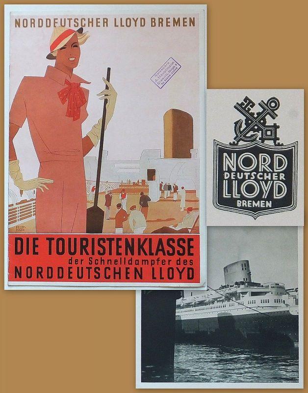 Enwurf von: Hugo Feldtmann - Norddeutsche LLOYD Bremen um 1935 Schnelldampfer A4
