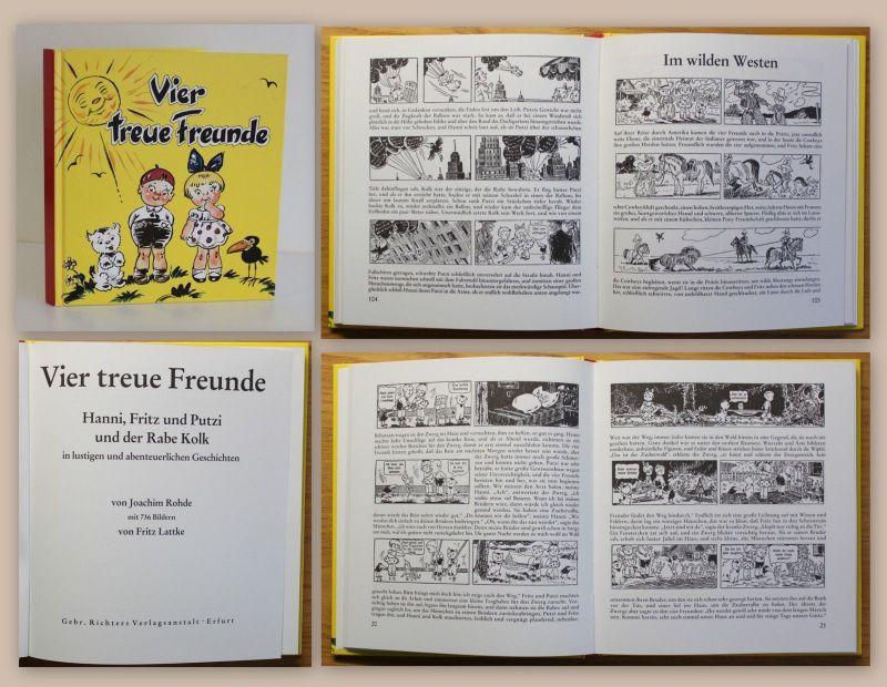 Rhode & Lattke Vier treue Freunde Hanni Fritz Putzi Kolk Kinderbuch Klassiker xz