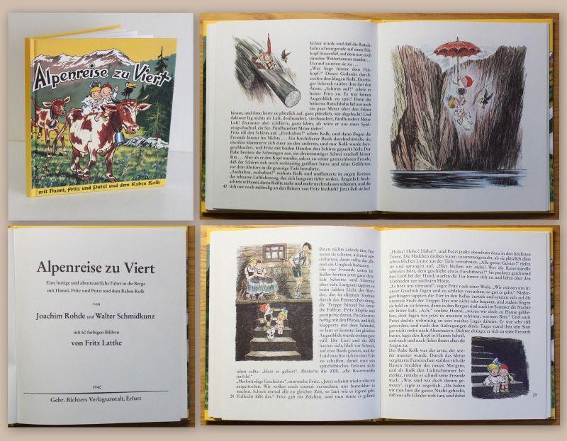 Rhode & Lattke Alpenreise zu Viert Hanni Fritz Putzi Kolk Kinderbuch Klassiker