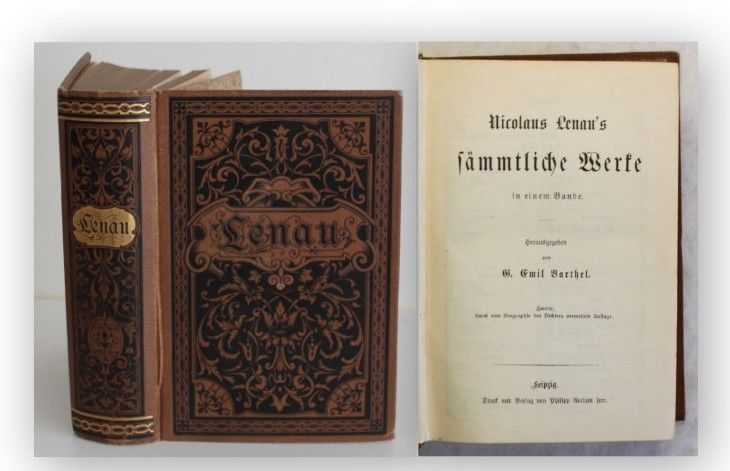 Lenau's Sämtliche Werke in einem Band 1883 Belletristik Klassiker Literatur xy