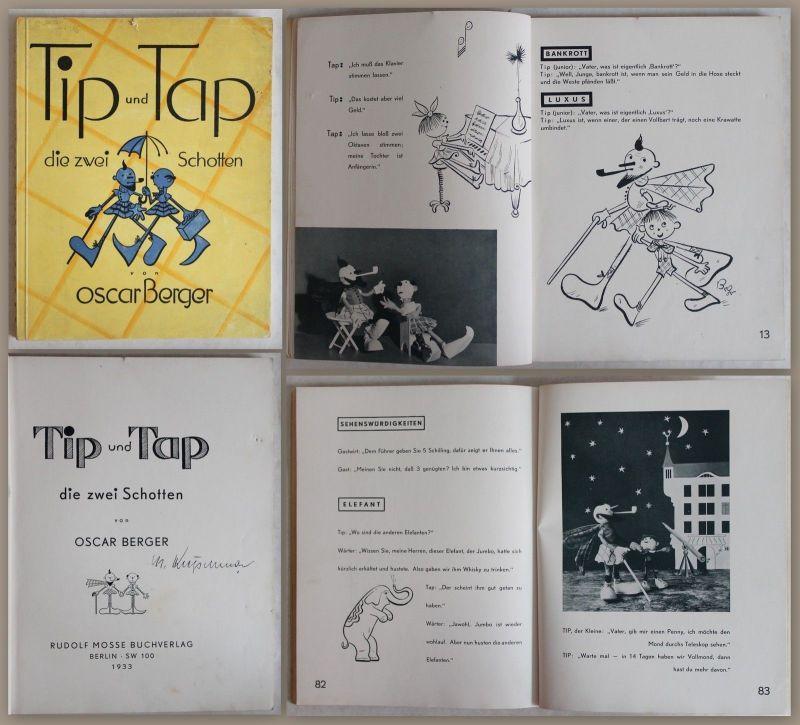 Berger: Tip und Tap die zwei Schotten 1933 - Bilderbuch für Erwachsene, Humor xz