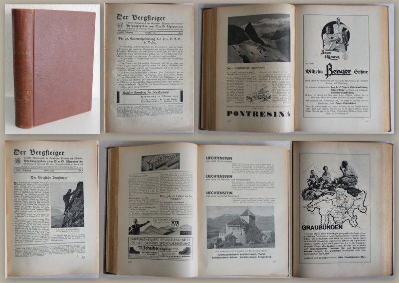 Der Bergsteiger. Monatsschrift für Bergsteigen, Wandern & Skilauf 1933/39 - xz