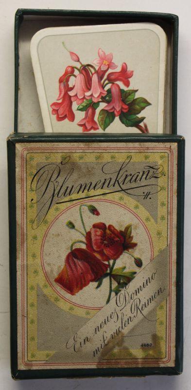 Sala-Spiele mit Rotsiegel Blumenkranz um 1910 Gesellschaft Domino Kartenspiel sf
