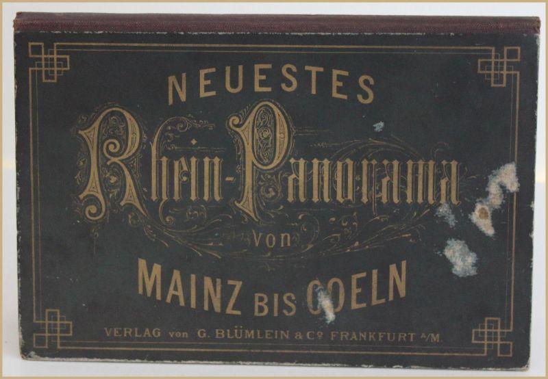 Neuestes Rhein-Panorama von Mainz bis Coeln um 1900 Geografie Ortskunde Reise sf