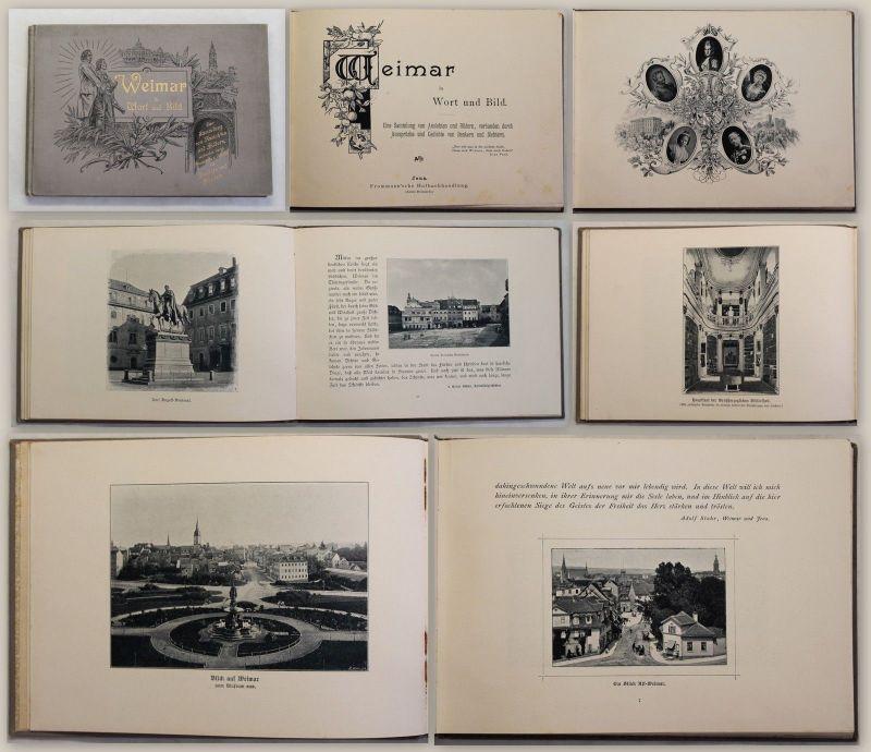 Weimar in Wort und Bild um 1900 Ansichten & Bildern mit Gedichten Thüringen xy