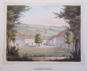 Lithografie Olbernhau Ansicht Sachsen Poenicke Schlösser & Rittergüter um 1855