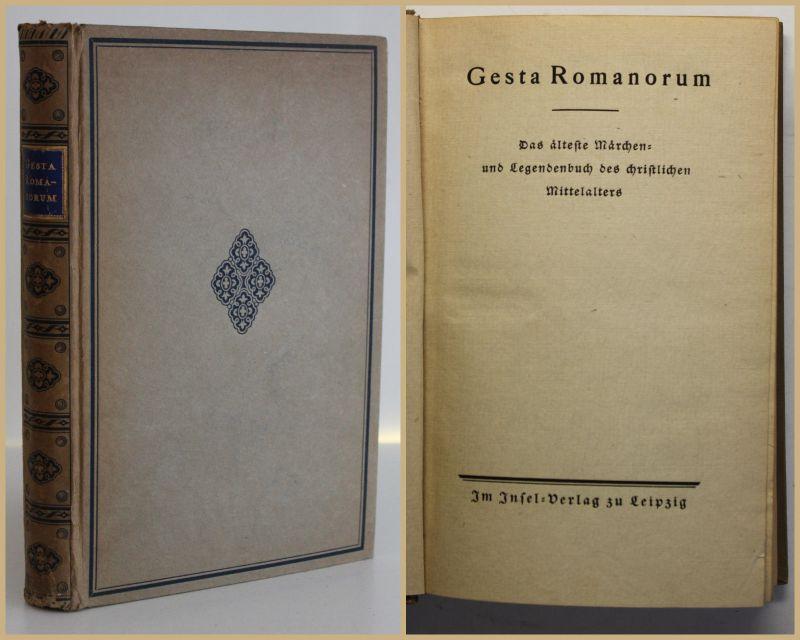 Gesta Romanorum Das älteste Märchen & Legendbuch um 1920 Insel-Verlag sf