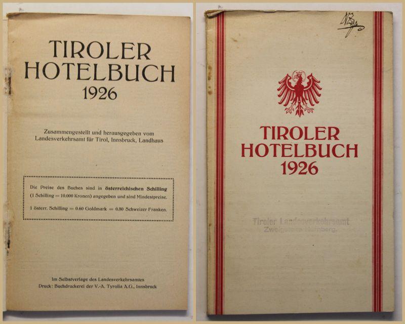 Original Prospekt Tiroler Hotelbuch 1926 Geografie Geographie Reise Ortskunde sf