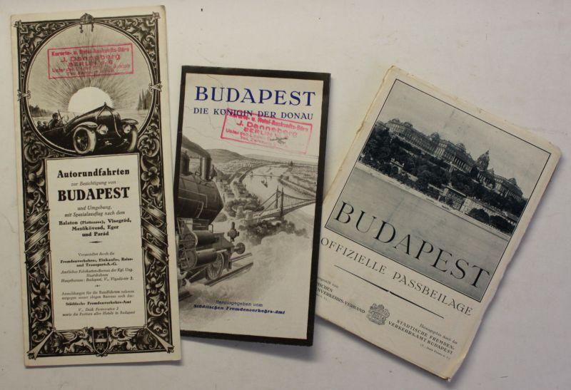 3 Original Prospekte von Budapest um 1930 Ungarn Geografie Reise Ortskunde sf