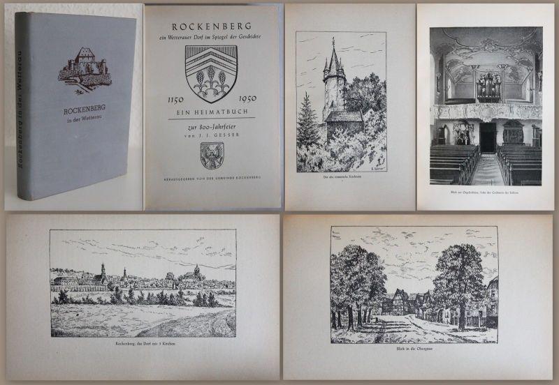 Gesser - Rockenberg ein Wetterauer Dorf. Heimatbuch zur 800-Jahrfeier 1950 - xz