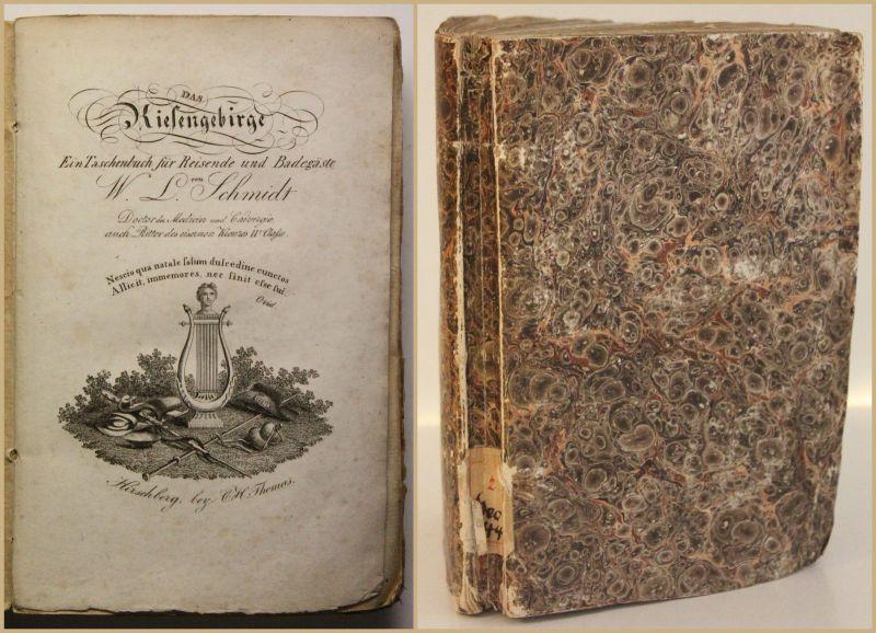 Schmidt Das Riesengebirge um 1817 Geographie Geografie Landeskunde Ortskunde sf