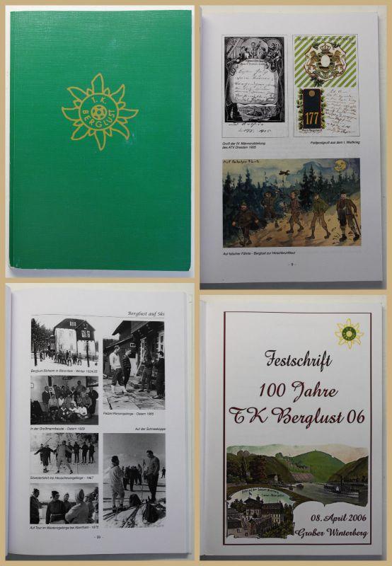 Festschrift 100 Jahre T.K. Berglust 06 2006 Verein Sachsen Geschichte wandern sf