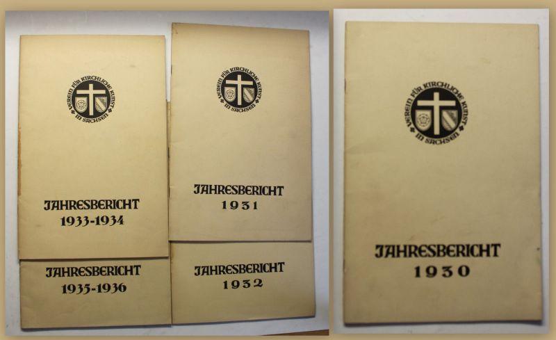 Original Jahresbichte Verein für kirchliche Kunst in Sachsen 1930-36 5 Hefte sf