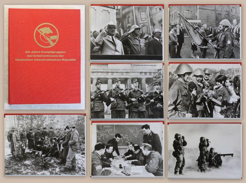 17 Orig Fotografien DDR Militär Militaria Soldat 20 Jahre Kampfgruppen 1973 Foto