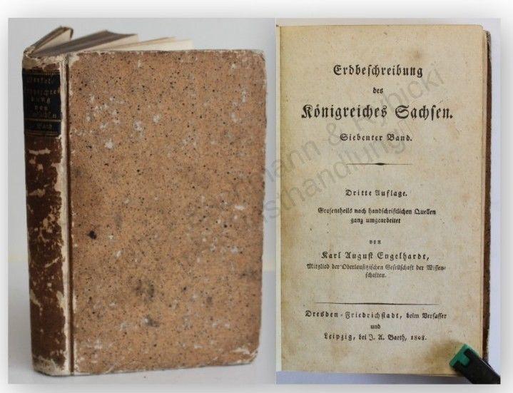 Engelhardt Erdbeschreibung des Königreiches Sachsen 7. Band 1808 Geschichte xy
