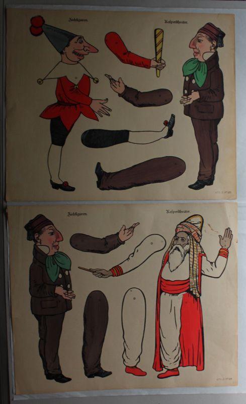 Pellerin/Schreiber Lithografien 6 Ausschneidebögen für Zielfiguren um 1910 sf 2