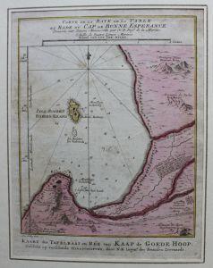 Kolorierte Kupferstichkarte vom Kap der guten Hoffnung um 1780 Landkarte sf