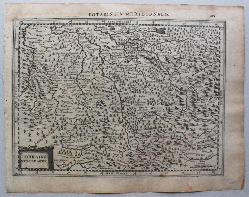 Kupferstichkarte von Lothringen