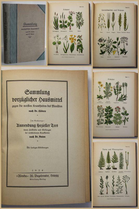 Lüders Sammlung vorzüglicher Hausmittel 1926 Krankheiten Medizin Wissen sf 0