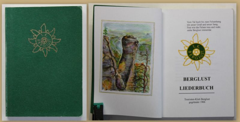 Berglust Liederbuch 1906 Musik Kultur Kunst Vetein Wandern Reise Gesang sf 0