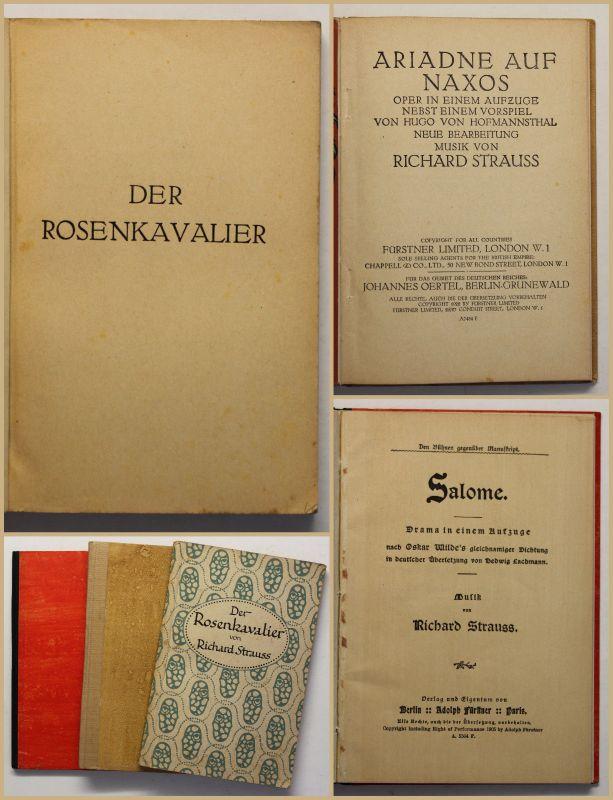 Konvolut Richard Strauss 3 Bde um 1910 ua Der Rosenkavalier Salome Musik sf 0