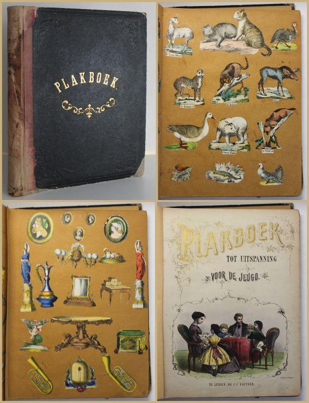 Scrap Book Sammelbuch Sammelalbum Scrapbook Einklebebuch um 1840 koloriert sf 0