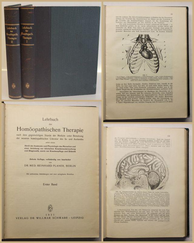 Planer Lehrbuch der Homöopathischen Therapie 2 Bde 1931 Medizin Wissen sf