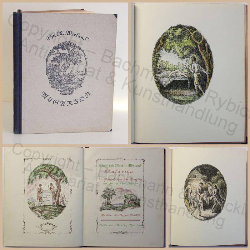 Wielands Musarion Philosophie der Grazien Gedicht um 1920 Illustriert Woelfle xz