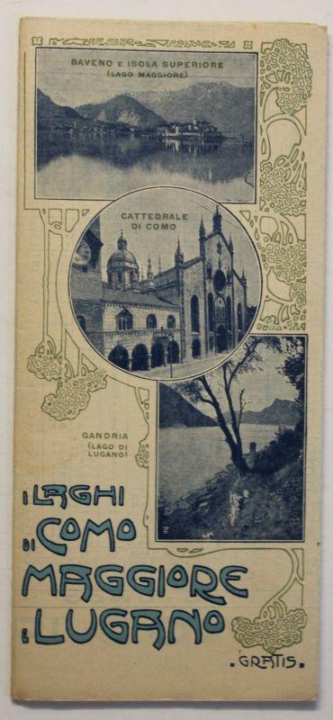 Original Prospekt Lugano 1913 Schweiz Landeskunde Ortskunde Reise Geografie sf