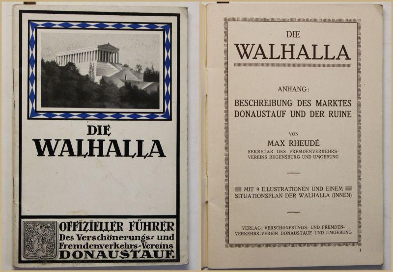 Original Prospekt Die Walhalla um 1930 Reise Ortskunde Landeskunde Geografie sf