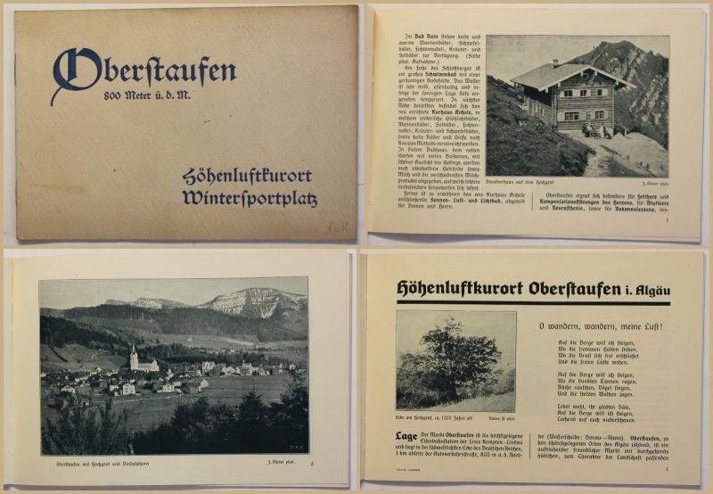 Original Prospekt Oberstaufen um 1930 Bayern Ortskunde Landeskunde Geografie sf
