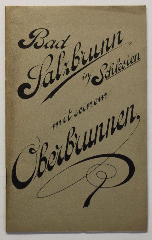 Original Prospekt Bad Salzbrunn mit seinem Oberbrunnen um 1900 Polen Reise sf