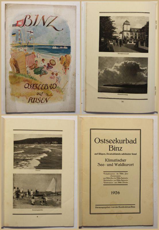 Original Prospekt Binz Ostseebad auf Rügen 1926 Ortskunde Reise Landeskunde sf