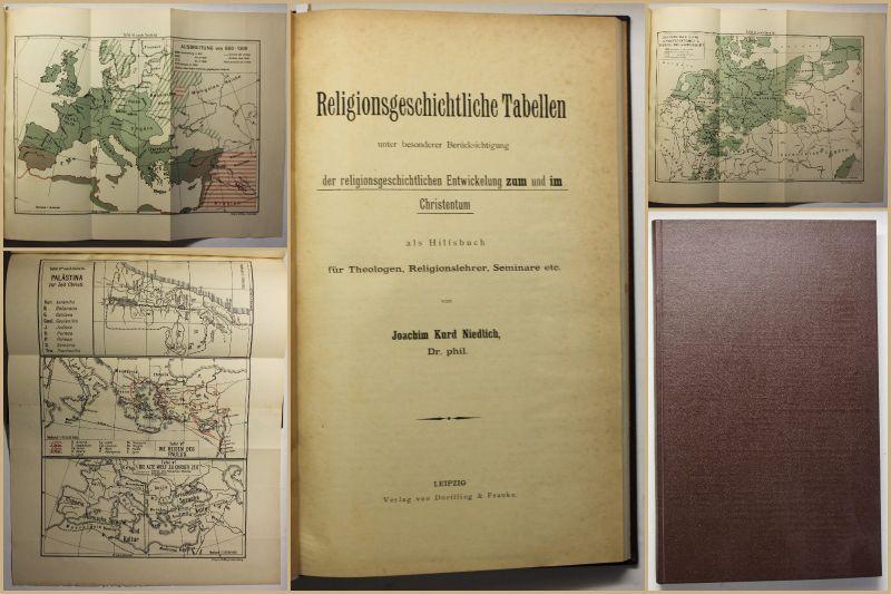 Niedlich Religionsgeschichtliche Tabellen 1908 Religion Christentum Theologie sf