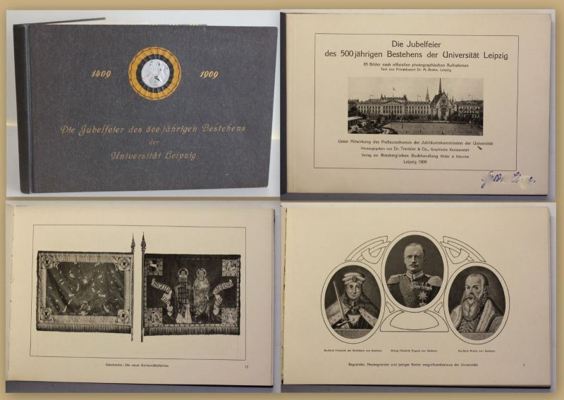 Trenkler Die Jubelfeier des 500 jährigen Bestehens der Uni Leipzig 1909 sf