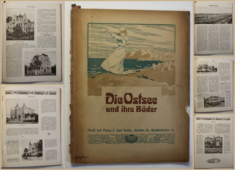 Original Prospekt Die Ostsee und ihre Bäder um 1906 Ortskunde Geografie Reise sf